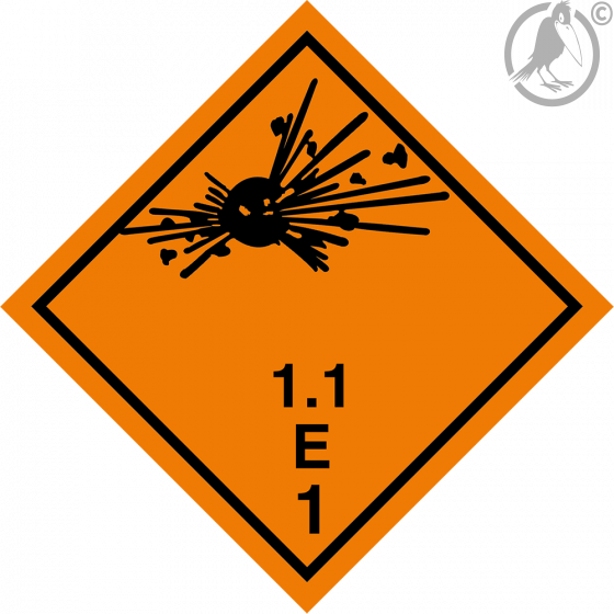 Gefahrgutaufkleber Klasse 1.1E