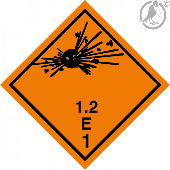 Gefahrgutaufkleber Klasse 1.2E