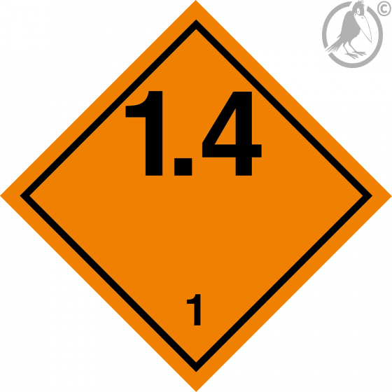 Gefahrgutaufkleber Klasse 1.4