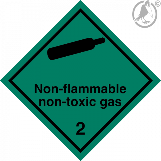 Gefahrgutaufkleber Klasse 2.2 Non flammable – non toxic gas