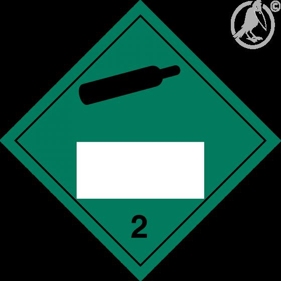 Gefahrgutaufkleber Klasse 2.2 Non flammable – non toxic gas mit Eindruck - 250 x 250 mm