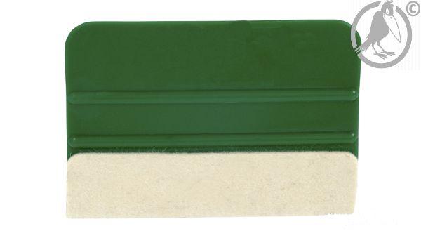 Kunstoffrakel mit Filz 100 mm grün
