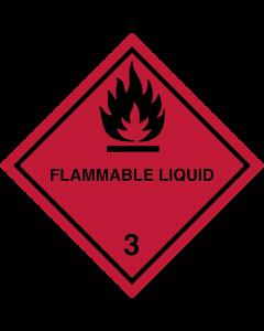 Gefahrgutaufkleber Klasse 3 FLAMMABLE LIQUID