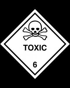 Gefahrgutaufkleber Klasse 6.1 TOXIC
