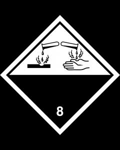 "Gefahrgutaufkleber Klasse 8 CORROSIVE ""ohne Text"""
