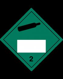 Gefahrgutaufkleber Klasse 2.2 Non flammable – non toxic gas mit Eindruck - 300 x 300 mm