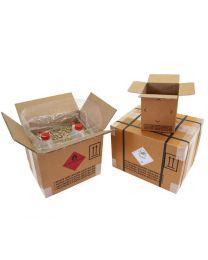 Gefahrgutkarton 1-wellig, Inhalt 6 l, braun Qualität 1.5