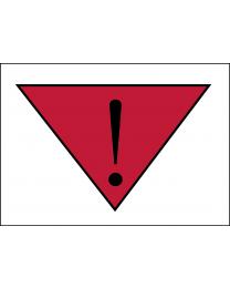 Achtung-Vorsichtig Verschieben Aufkleber 74x105mm