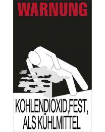 """Warnkennzeichnung Kühlmittel """"KOHLENDIOXID,FEST,ALS KÜHLMITTEL"""""""