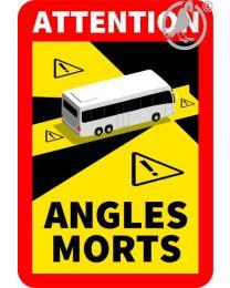 magnetisch Toter Winkel-Aufkleber Bus mehr als 3,5 Tonnen