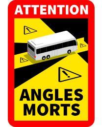 Toter Winkel-Aufkleber Bus