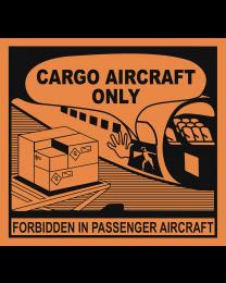 Cargo Aircraft Only Aufkleber (Transportetikett)