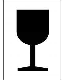 Abfertigungskennzeichen Vorsicht Glas / Vorsicht zerbrechlich