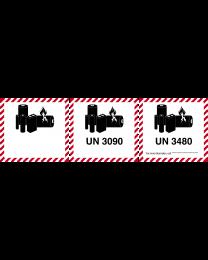 Kennzeichen für Lithiumbatterien