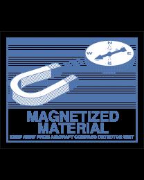 MAGNETIZED MATERIAL Aufkleber (Transportetikett)