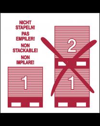 Abfertigungskennzeichen Nicht Stapeln Non Stockable