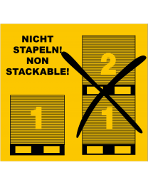 Nicht Stapeln! Transportetikett