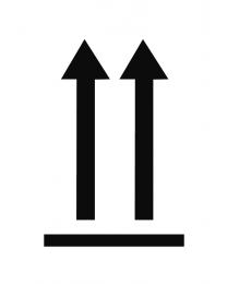 """Abfertigungskennzeichen """"Richtungspfeile oben"""""""